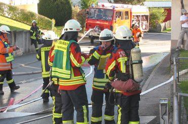 Jahreshauptübung der Abteilungen Hoppetenzell und Zizenhausen