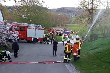 Kreisübergreifende Feuerwehrübung