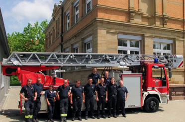 Drehleiterschulung bei der Feuerwehr Stockach