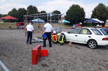 Erfolgreiche Wettkampfgruppen beim Kreisfeuerwehrtag in Hilzingen