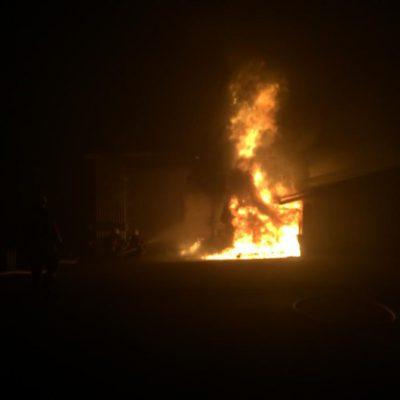 Die Lage in den ersten Minuten. Bild Feuerwehr Stockach