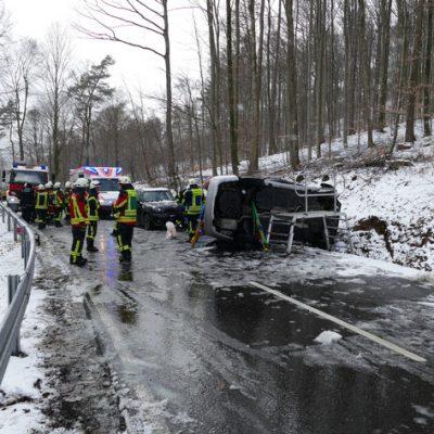 Unfall in Bodman-Ludwigshafen nach der Rettung.