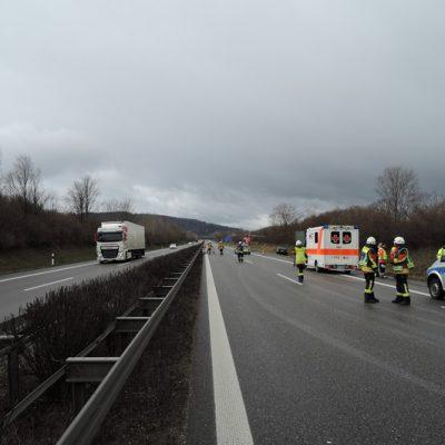 Unfallstelle Richtung Kreuz Hegau