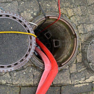 Der betroffene Abwasserkanal. Foto: FFW Stockach
