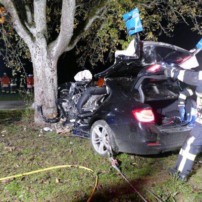 Der Unfall mit eingeleiteter Rettung.