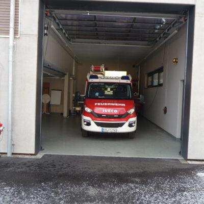 Die Garage mit dem neuen MLF