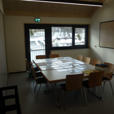 Blick in den kleineren Besprechungsraum